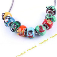 Wholesale 45 Mix Animal Lampwork Glaze Glass Charm Beads Fit Diy Bead European Bracelet Handcraft