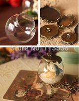 antique bubble glass - Free ship NEW sets mm glass globe with antique bronze findings set glass bubble DIY vial pendant