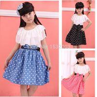 teenage fashion - Teenage Girls Fashion Dresses Clothes For Teenagers Girl Lace Princess Summer Vestidos Meninas Dot Teenage Girls Fashion