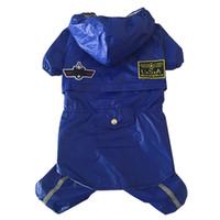 air hose accessories - The new air service size dog pet dog raincoat Tactic four raincoat rain hose cap large dog