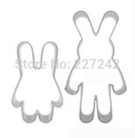 baby bark - Colorful baby and mother rabbit set cutter metal Cookie cuttersDIY barking tools SC383