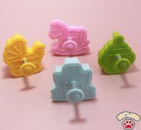 baby sugar cookies - New Hobbyhorse Baby Stroller Baby Clothes Feeder Design Sugar Craft Plunger Cookie Cutter Mold Tool