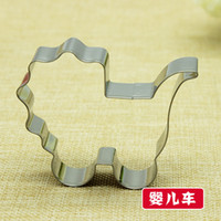 baby carriage cakes - Hot popular baby carriage decoration biscuit mold cookie cutters cake cookie press print mold cooking tools P109