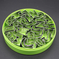 alphabet molds - English Alphabet Letters Biscuit Cutter Set Stainless Steel Mini Cookies Cutters Molds