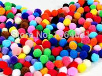 Wholesale mix color mm soft fluffy pom poms Children DIY crafts work decorative pom balls