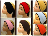 Wholesale hot fashion ear headband embroidered fleece material bunk warm headband men and women goods