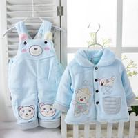Envios mayor-Libre otoño y el invierno ropa de bebé Ropa de bebé Coral polar infantil de la ropa del bebé del mono