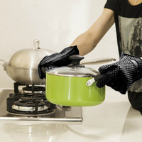 barbeque ovens - 1 pc high quality Heat Resistant Silicone rubber BBQ Grill Gloves for cooking Oven mitts Barbeque Glove Kitchen Finger