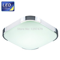 Wholesale w Square LED Ceiling Light SAMSUNG Chips mm K PMMA Shade SPCC Lamp chassis for bedroom Silver UHXD292
