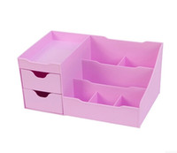 cheap wholesale office desktop storage jewelry box skin care products plastic dressing table make up cheap office drawers