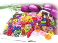 fashion hair circle - Fashion Colorful Hair band Hair Gum for hair Elastic Rope For Girls Women Spiral line hair circle hairband
