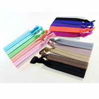 Wholesale Very useful preferential Hair Band Scrunchie Ponytail Holder Multi Color Hair Tie Rope Fashion Hair Accessories card