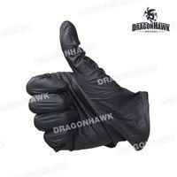 latex powder free exam gloves - Powder Free Black Nitrile Exam Latex Free Tattoo Gloves Medium