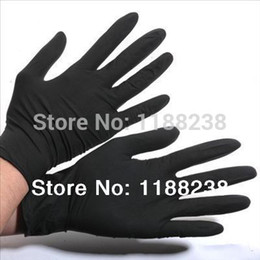 Wholesale 100PCS Tattoo Gloves Artist Trends Latex amp Nitrile Black Tattoo Gloves Powder Free Disposable Gloves Black Blue S M L XL