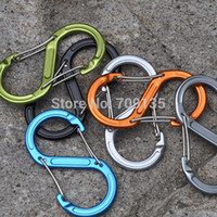 Wholesale max bearing kg S hook aluminium alloy S biner word quick release carabiner