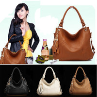 Wholesale Fancy Women Lady Real Genuine Leather Hobo Tassel Tote Handbag Shoulder Bag