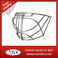 Wholesale face protective equipment stainless steel helmet cage mask for goalie helmet