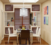 Cheap Wholesale-modern best-selling LED Square k9 crystal Chandeliers Crystal Al AC85-260V crystal chandelier Square lighting