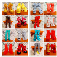 doll shoes - SALE Pairs Fashion Shoes For Monster Dolls Beautiful High Heels Monster Doll Sandals Boots Mixed Style Shoes