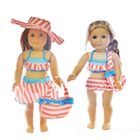 Wholesale Pink Bikini Swimsuit Swimwear Doll Clothes For quot American Girl Handmade