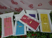 wood door - Wood Doll House Diy Cute Lovely Fairy Doors Inspire Imaginative Play for Kids Special Gift For Girl Exquisite Miniatures