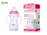 Wholesale ML baby feeding bottle with silica gel nipple pp nursing bottle with handle pc color box gifts