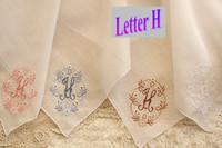 handkerchiefs ladies white embroidered - White Hand embroidered Handkerchief Thick Cotton English Letter M H E F G Summer Style