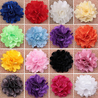 fabric flower pin - Women Girls Blooming Fabric Flower Hollow Brooch DIY Hair Pins Clip Accessory SK
