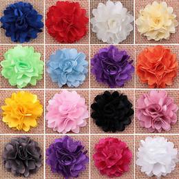 Fille accessoires pour cheveux clips en Ligne-Gros-Femmes Filles Blooming fleurs en tissu Broche creuse bricolage cheveux Pins clip accessoires SK