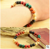 Wholesale L132 Wood series of new color wooden beads jewelry beads lap stylish compact bracelets