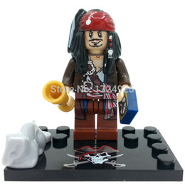 Wholesale Minifigure XSZ Pirates of the Caribbean Captain Jack Sparrow Building Blocks Sets Model Bricks Figure Toys For Children