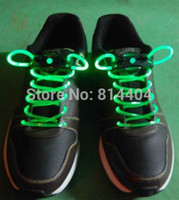 Wholesale Pair Shoe Lace Lights Light Up LED Flash Glow In The Dark Night Party Clubwear