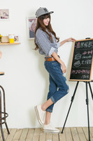 pair of jeans - The new women s nine minutes of pants korea edition hole haroun A pair of jeans boyfriend Korea edition free shiping