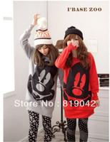 Wholesale Monkey King Fashion Women s New Tops Ladys Cartoon Mickey Mouse Print Hoodies Sweatshirt Plus Size color