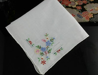 handkerchiefs ladies white embroidered - Handmade Women s Handkerchief Cotton Embroidered Handkerchief White Summer Style JIANGNAN2