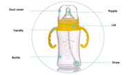 baby bottles nuk - pc ml Baby Feeding Bottle Safety Glass Baby Bottle Nuk Sippy Cup With Handshake Milk Cup With Breast Water Bottle Infant