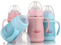 Wholesale Handle Feeder For Baby Feeding Bottle Stainless Steel Milk Bottles Baby Nursing Bottle Keep Warm Hours Sippy Cups With Handle