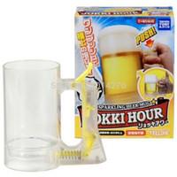 beer foam - Cool Summer Sparkling Beer Mug Foam Generating Beer Mug with Gift Box Caneca Copos de Cerveja Espumante KRB15077