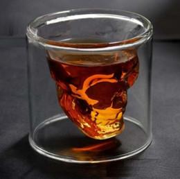 Wholesale Big Size ml Doomed Crystal Skull Shot Wine Glass Whisky Mug Party Even Bar Decorative Item Novelty Gift