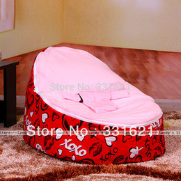 Wholesale-With Filler!!!!!Free Shipping Baby Seat,Bed,Beanbag,Sofa,Baby Bean Bag Filler,Heart Pattern