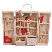 Wholesale Wooden Tool Toy Baby Kids Early Learning Educational Toy Repair Tool Toy Pretend Play Classic Baby Toy