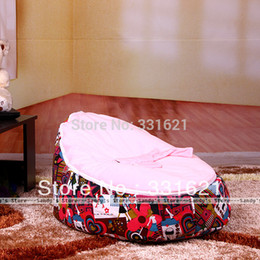 Wholesale No Filler Solid Baby Bean Seat Kids Children Bean Bag Baby Bed With Filling Filler