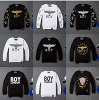 boy london - 9 Designs New spring autumn Famous men women London BOY sweatshirt Eagle hip hop brand sportswear woman hoodies
