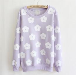 Wholesale Andy Fashion Women s cotton hoodies fleece inside double printed flowers sweatshirts colors P8817