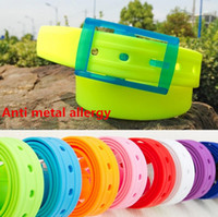 allergy proof - candy colored metal allergy proof plastic fluorescent colors for men and women belt plastic belt