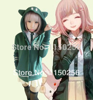 bears jacket - Anime DanganRonpa Black White Bear Chiaki Nanami monokuma Cosplay Costume Kawaii Jacket Coat Women Hoody