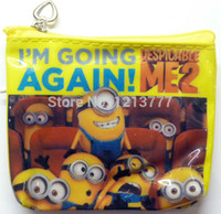 job lots - Job Despicable Me MINION Zip Coin Purse childrens designs party bags NEW