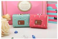 Al por mayor-Descuento grande cartera de la moda de señora embrague del monedero del Women Wallets corto pequeña bolsa de cuero de la PU monederos de la moneda para las muchachas de la alta calidad