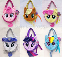 applejack pony - new Cartoon pony Plush Toys Girl Fashion Coin Purse Applejack Bag Twilight Sparkle Handbag Free shippping
