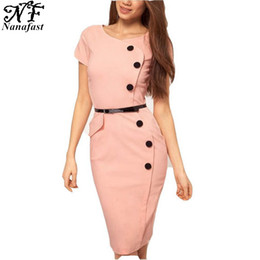 Office Ladies Dress Work to Wear Short Sleeve O Neck Midi Women Summer Dresses 2016 Casual Vestido Plus Size Without Belt free shipping